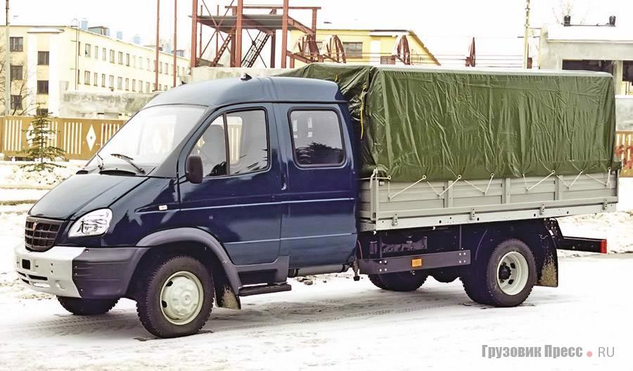 Настал черёд использования кабины «ГАЗели» в автомобилях большей грузоподъёмности. На снимке – опытный образец ГАЗ-3310 «Валдай», январь 2002 г.