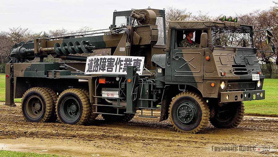 Основной военный грузовик Японии – Typ 73, выпускаемый Isuzu