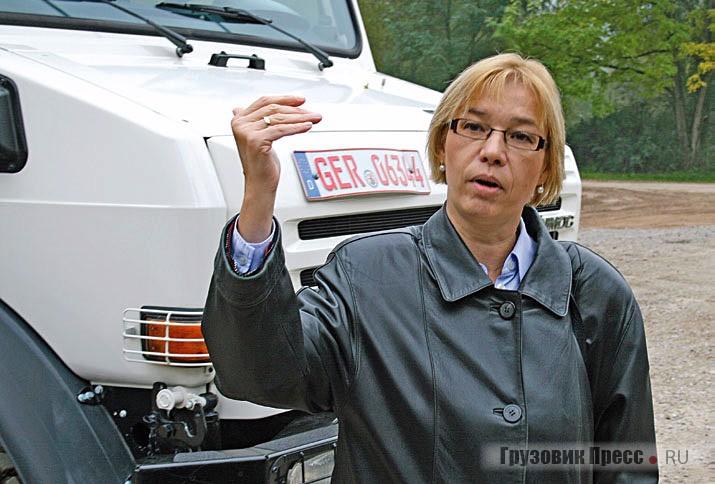 Ольга Попова, руководитель региональных продаж отделения Mercedes-Benz Unimog компании Daimler AG в странах СНГ, досконально знает продукт