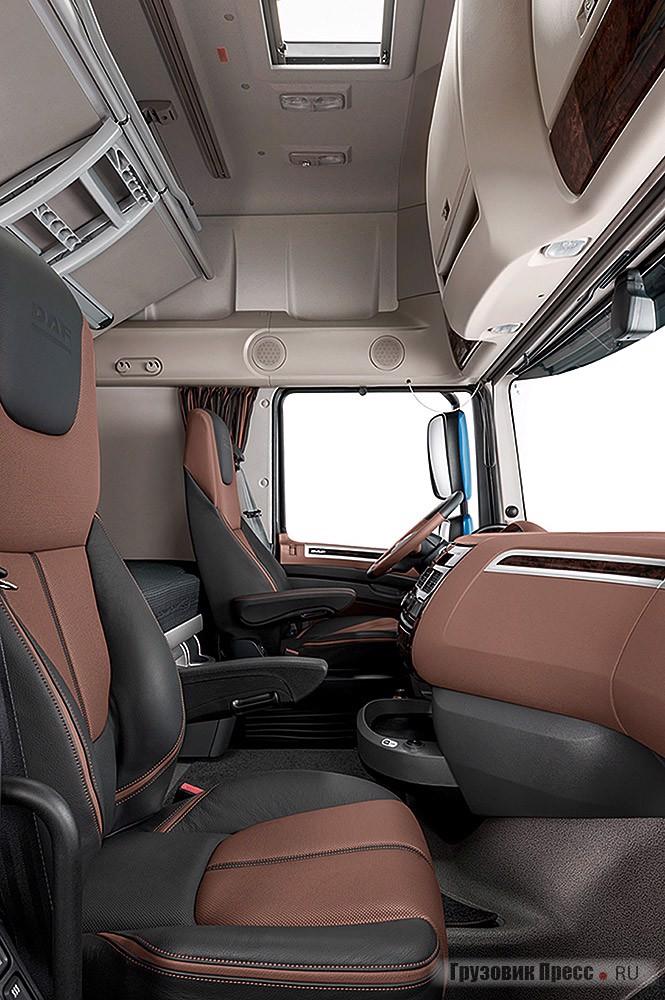 XF Super Space Cab остаётся самой вместительной кабиной на рынке с общим объёмом более 12,6 м[sup]3[/sup]