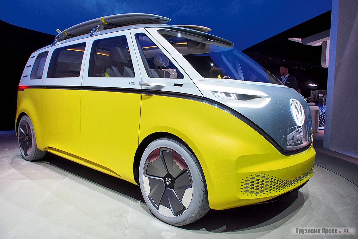 Концепт Volkswagen ID Buzz на IAA 2017 во Франкфурте-на-Майне
