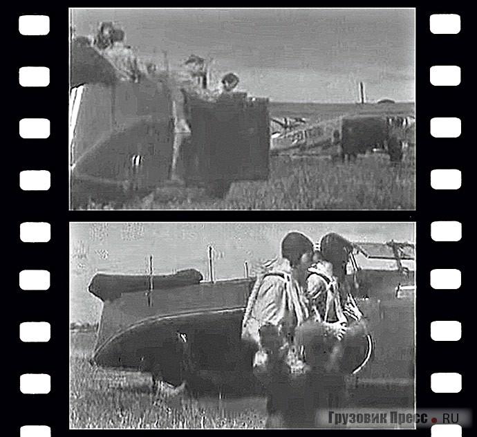 В кадрах кинофильма «Боксёры» экземпляр автобуса НАТИ-ЗИС запечатлён без верха, со сложенным на корме тентом. Москва, 1940–1941 гг.