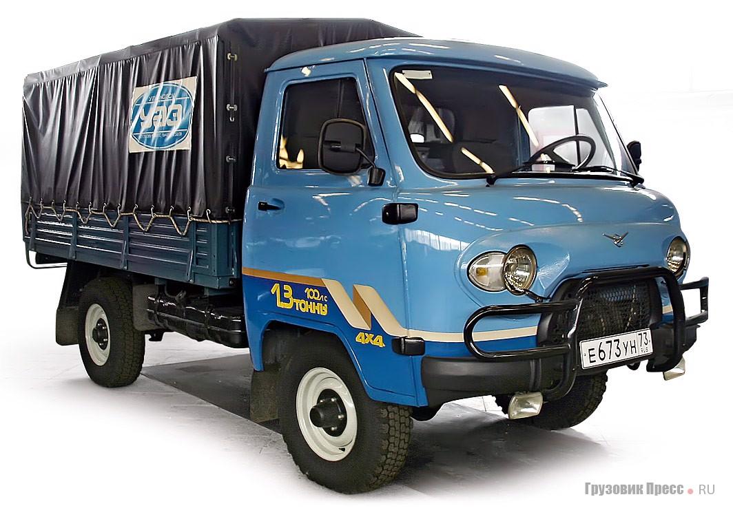 Модификация УАЗ-33036 с увеличенной грузоподъемностью до 1,3 т и платформой увеличенного размера создавалась в пику «ГАЗели». У нее были лучшие показатели проходимости и низкая цена.