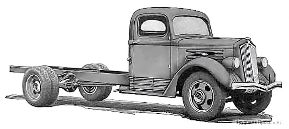 White 700H грузоподъёмностью 1,5–4 т. Кабина и оперение созданы по эскизам А. Сахновского. 1938 г.