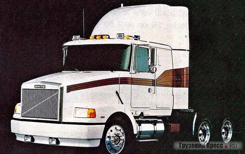 Седельный тягач White WIA64T (6х4) серии Integral Sleeper Aero – один из последних автомобилей марки «Уайт». 1987 г.