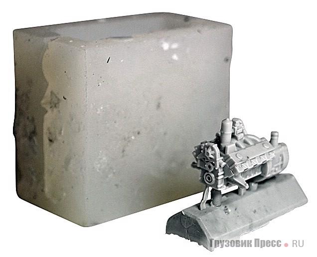 Форма и отливка блока цилиндров и КП двигателя ГАЗ-66