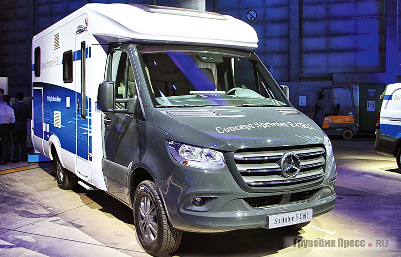 Концепт автомобиля на водородном топливе Mercedes-Benz Sprinter F-CELL