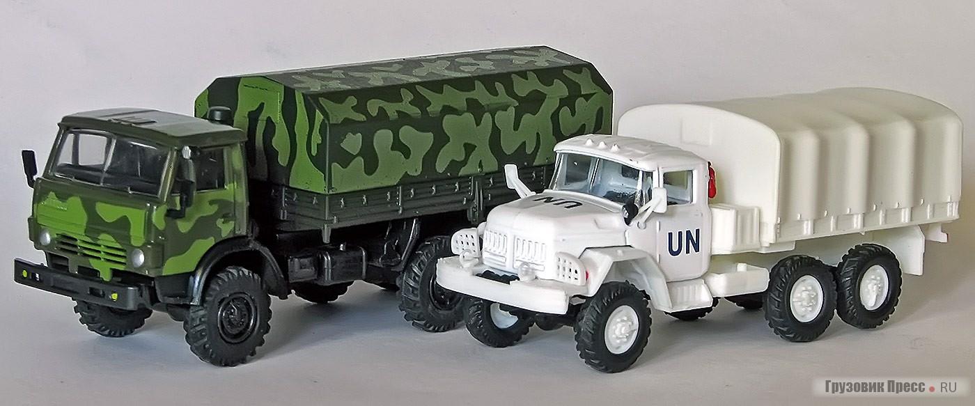 Модели советских грузовиков в «72-м» масштабе из польской серии Kolekcja Wozów Bojowych («Боевые машины»)