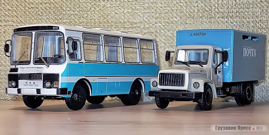 ПАЗ-3205 от SSM и ГАЗ-3307 от мастерской «Компаньон»