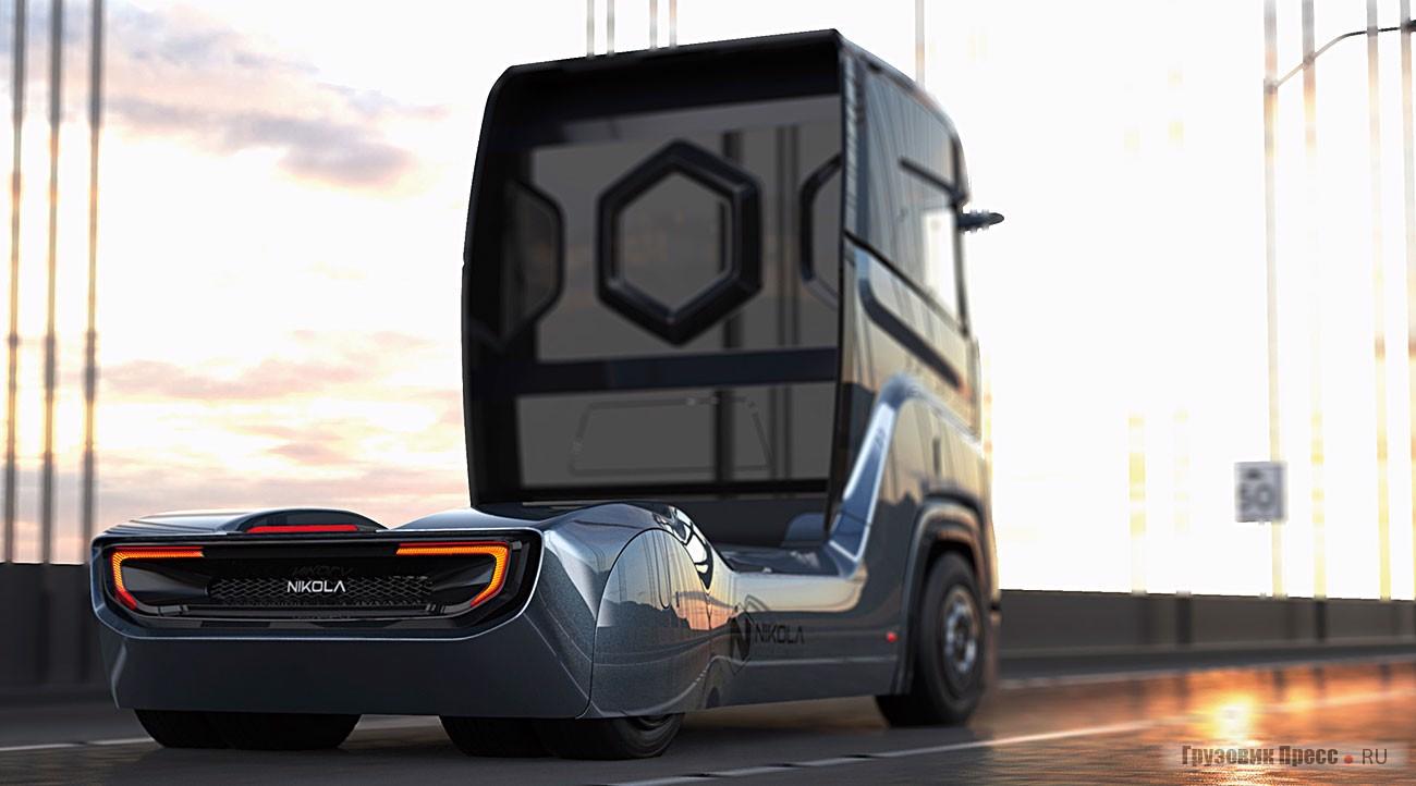 Прототип магистрального тягача Nikola Tre на водородном топливе