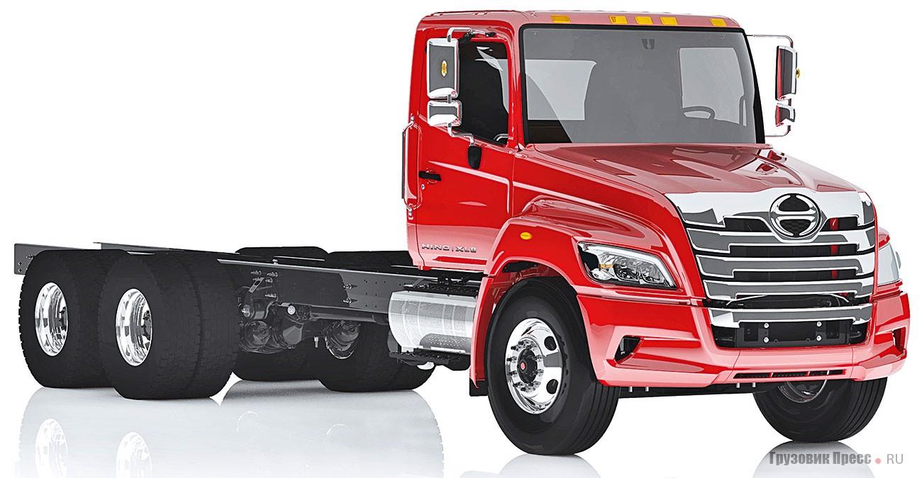 Трёхосные грузовики Hino с колёсной формулой 6х4 будут доступны только в линейке XL8