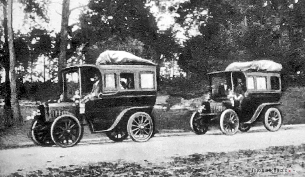 Автобусы «Романовский» на маршруте в Люблинской губернии. 1904 г.