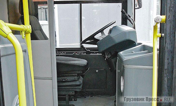 Водительская кабина не отгорожена от салона – как-то она покажет себя зимой?