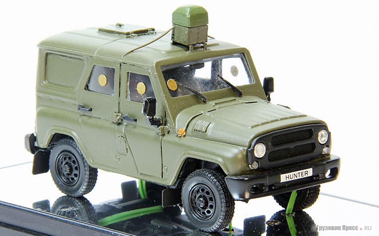 Бронированный военный автомобиль УАЗ-3151 с системой «Пелена»