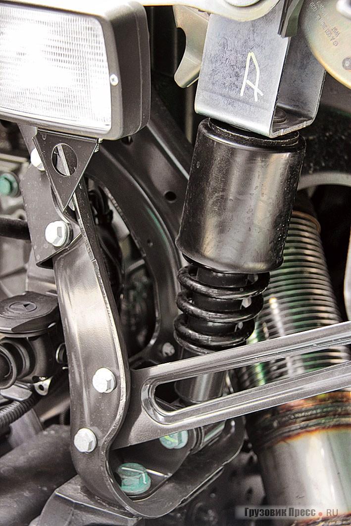 Пружинная подвеска кабины Actros MP4 успешно справляется со своими обязанностями