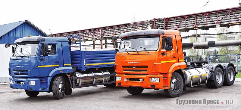 Первыми в России сертифицированными автомобилями на сжиженном метане стали тягач КАМАЗ-65116-37 и шасси КАМАЗ-65117-37