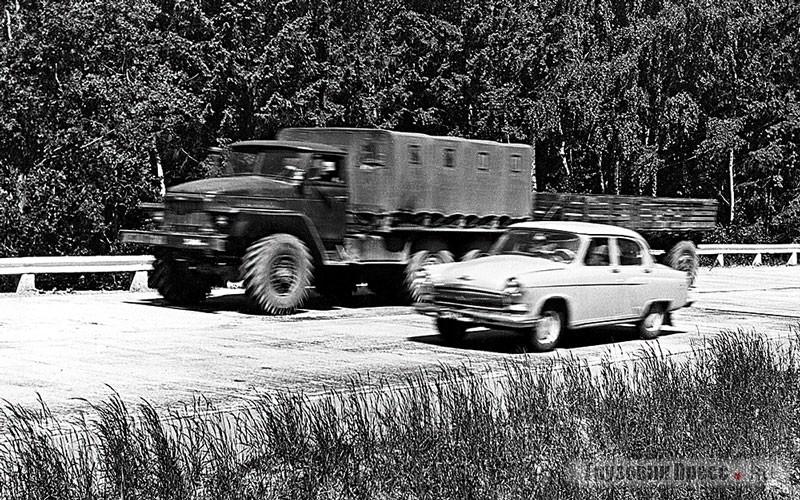 Испытания автомобилей начались на полигоне в 1964 г.