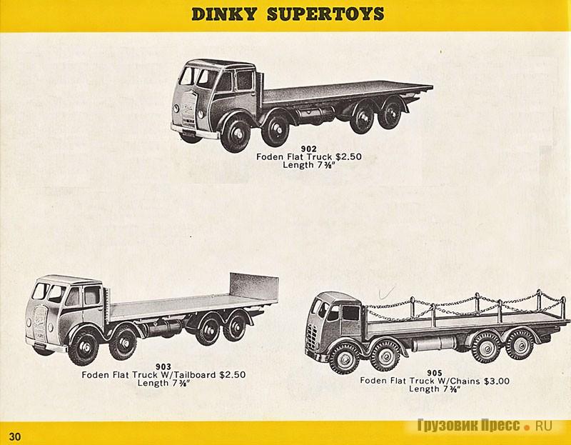Страница из каталога 1957 года, видно, укаких моделей кабины от Foden DG6 и Foden FG