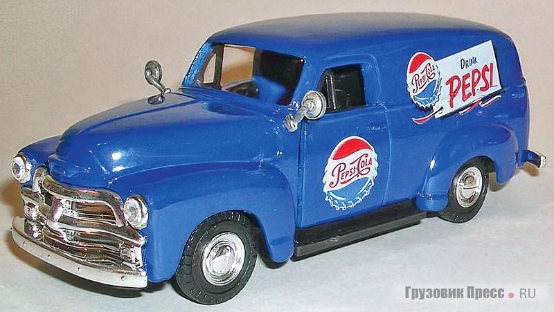 Масштабная модель грузового фургона Chevrolet Suburban, 1954г.в., масштаб 1:43, Road Champs