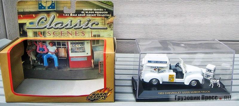 Фургон мороженщика, футуристический автомобиль на базе Chevrolet 3100, масштаб 1:43, Road Champs