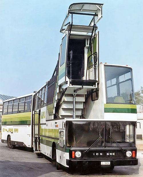 Сочленённый автобус Ikarus 695.01 с телескопическим трапом