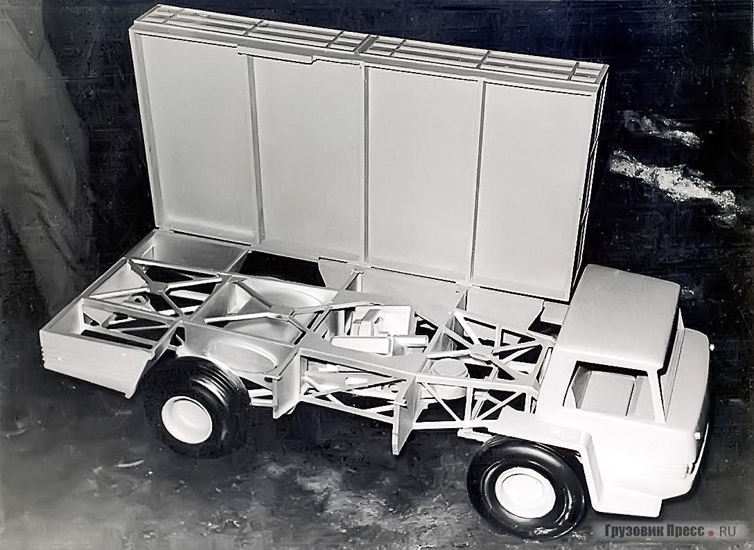 Смещением силового агрегата в базу, под грузовую платформу, предполагалось добиться равномерного распределения веса по осям, что позволяло отказаться от сдвоенной ошиновки заднего моста. Кроме того, увеличивается полезная площадь кузова
