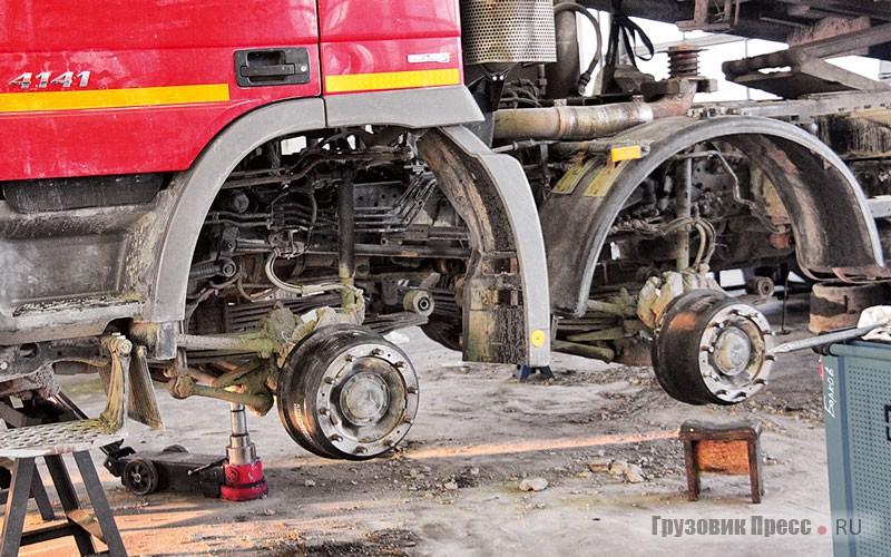 Барабанные тормозные механизмы более громоздкие и тяжёлые применяются преимущественно на грузовиках строительной линейки