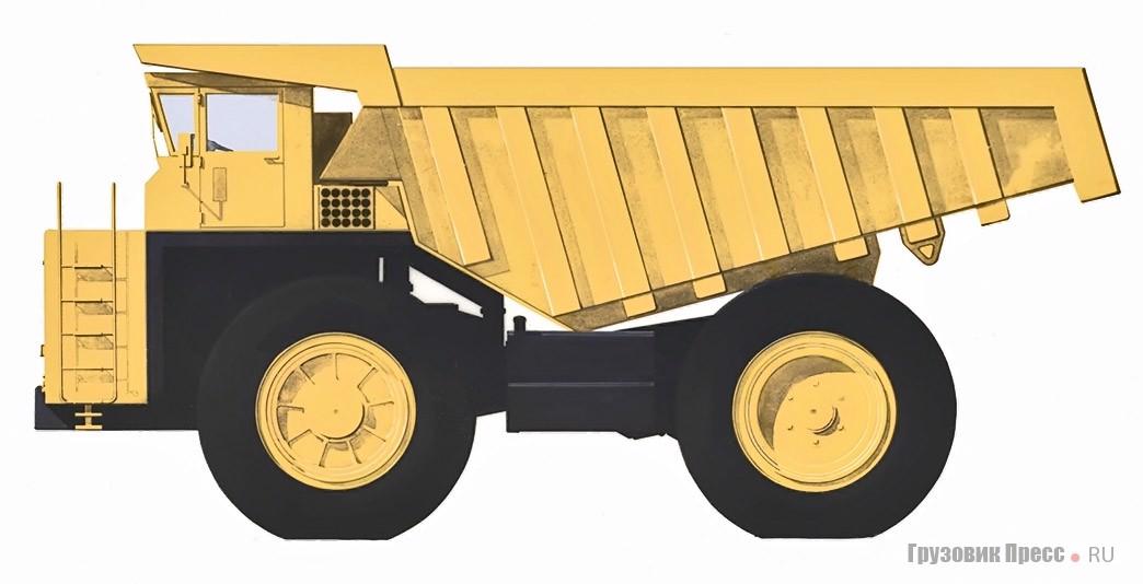 Проект 115-тонного самосвала БелАЗа. Дизайнер – В.С. Кобылинский, 1972 г.