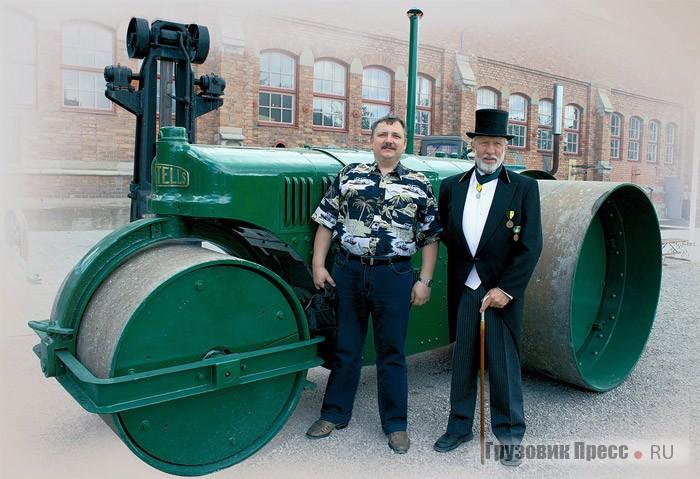 Снимок на память: директор музея Ральф Ангестам (справа) и автор на площадке открытой экспозиции Munktell Museum