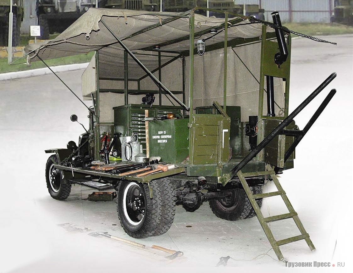 Ремонтная передвижная мастерская типа А (летучка ПМ-3) на шасси ГАЗ-ММ упрощенного военного образца