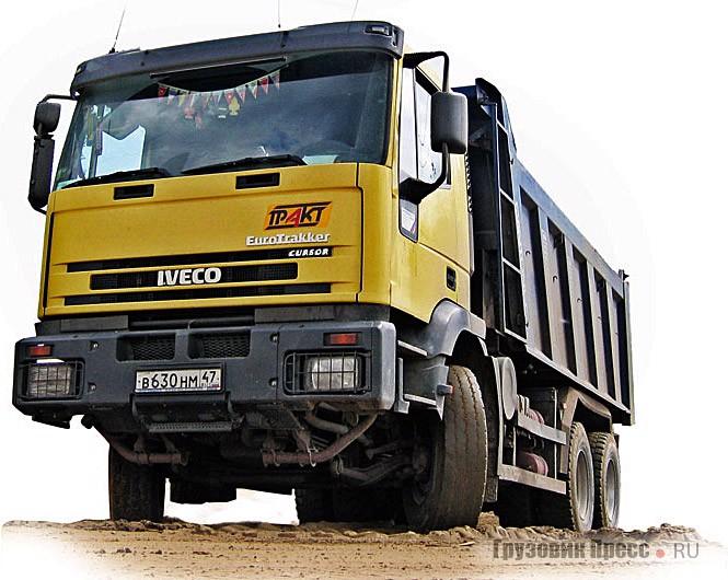 Старый IVECO EuroTrakker по эффективности перевозок не очень уступает новому, а по цене вдвое, а иногда и втрое дешевле
