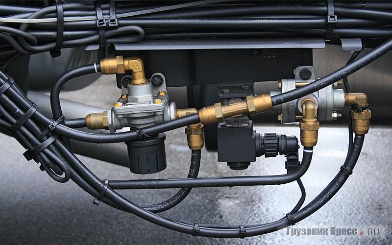 Открытые точки сопряжения трубопроводов защищены от влаги