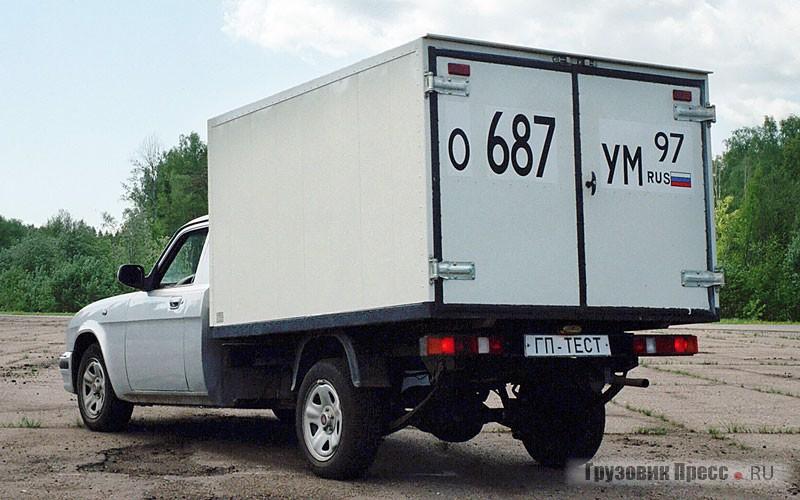 На испытуемом автомобиле установлен изотермический фургон