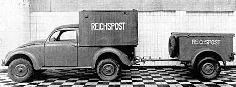 «Жук» – почтовый фургон с маленьким прицепом