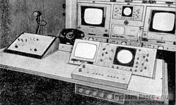 Пульт видеоинженера и видеорежиссера в станции ПТС-ЦТ