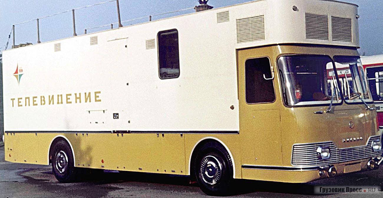 Серийная передвижная телевизионная станция «Лотос» ЛиАЗ-5930 демонстрировалась на ВДНХ в 1974 г.