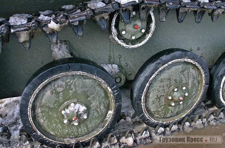 Система гусеничных катков Т-70