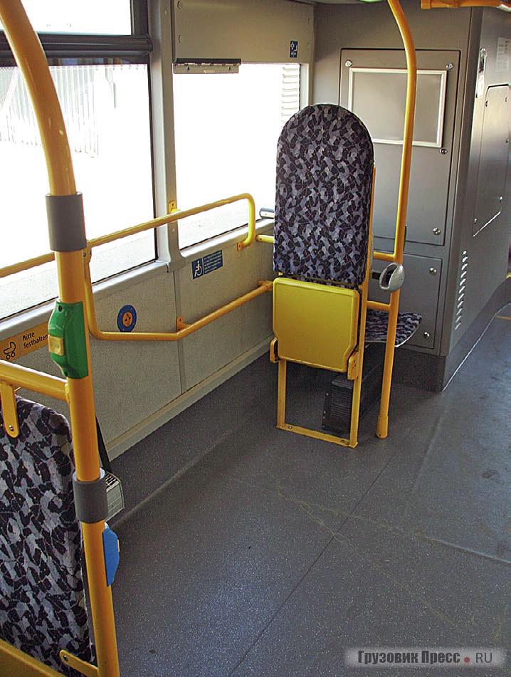 Большая накопительная площадка в центре автобуса