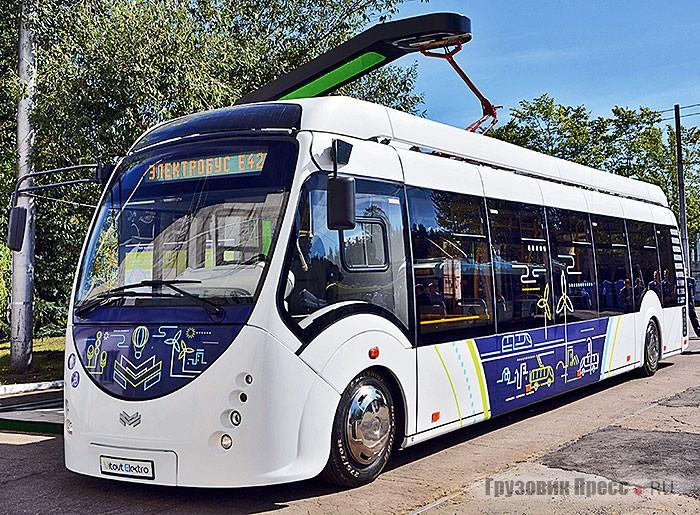 Электробус E420 Vitovt Electro – единственный, демонстрировавшийся широкой публике. Тем не менее это самый наглядный вариант, как будет проходить процесс подзарядки в конце маршрута