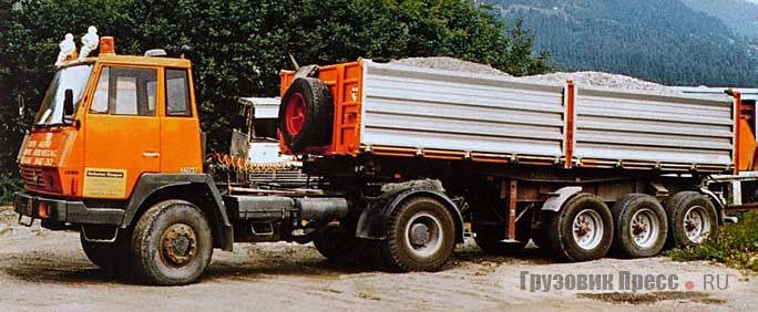 Седельный тягач Steyr 1290 с 320-сильным дизелем V8 и колесной формулой 4х4